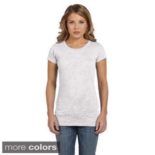 Bella Women's Bernadette Burnout Crew Neck T-shirt