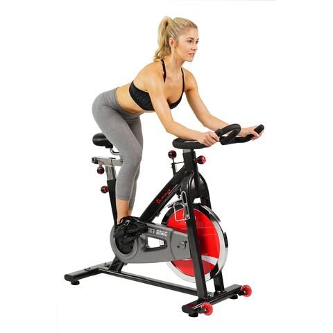 Sunny Health & Fitness SF-B1002 Belt Drive Steel Frame Indoor Cycling Bike