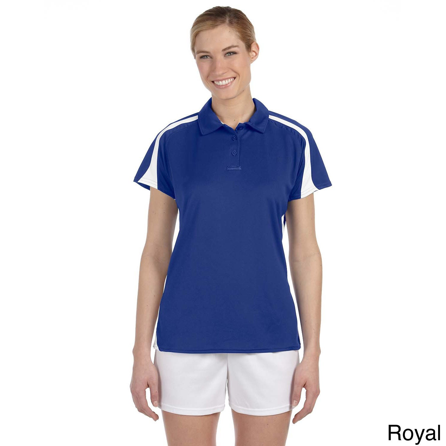 Russell Women's Game Day Athletic Polo Shirt (2XL,Royal/W...