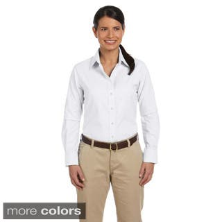 Women's Long Sleeve Oxford Shirt with Stain-release https://ak1.ostkcdn.com/images/products/8941858/Womens-Long-Sleeve-Oxford-Shirt-with-Stain-release-P16155074.jpg?impolicy=medium