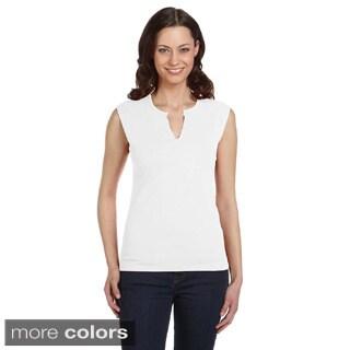 Bella Women's Slit V-neck T-shirt