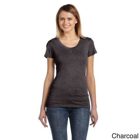 Bella Women's Tri-blend Scoop Neck T-shirt