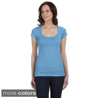 Bella Women's 'Margot' Sheer Rib Scoop Neck T-shirt