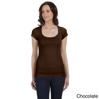 Bella Women's 'Margot' Sheer Rib Scoop Neck T-shirt (More options available)