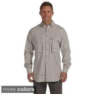 Hook & Tackle Men's 'Gulf Stream' Long Sleeve Fishing Shirt|https://ak1.ostkcdn.com/images/products/8941894/Hook-Tackle-Mens-Gulf-Stream-Long-Sleeve-Fishing-Shirt-P16155096.jpg?impolicy=medium