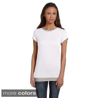Bella Women's Sheer Jersey 2-in-1 T-shirt