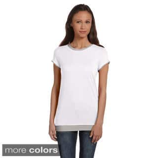 Bella Women's Sheer Jersey 2-in-1 T-shirt|https://ak1.ostkcdn.com/images/products/8941909/Bella-Womens-Sheer-Jersey-2-in-1-T-shirt-P16155106.jpg?impolicy=medium