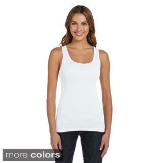 Bella Women's Sheer Mini Rib Long Tank