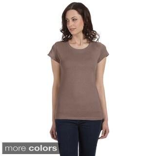 Bella Women's 'Marcelle' Sheer Jersey Longer-length T-shirt|https://ak1.ostkcdn.com/images/products/8941915/Bella-Womens-Marcelle-Sheer-Jersey-Longer-length-T-shirt-P16155110.jpg?_ostk_perf_=percv&impolicy=medium