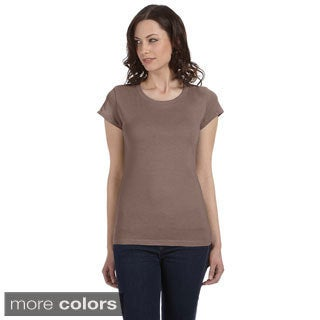 Bella Women's 'Marcelle' Sheer Jersey Longer-length T-shirt