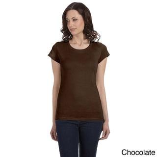 Bella Women's 'Marcelle' Sheer Jersey Longer-length T-shirt