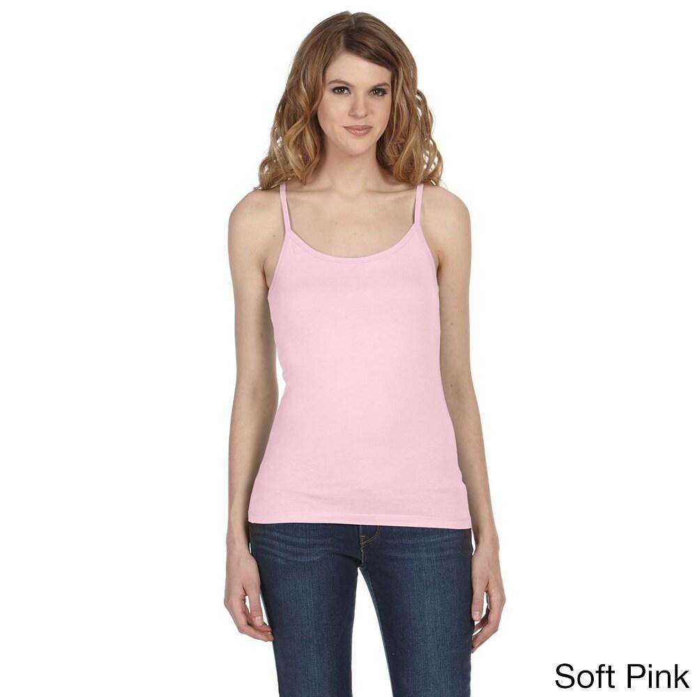 Bella Women's 'Louise' Sheer Jersey Longer-length Tank (X...