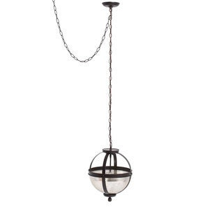 Sfera 2-light Autumn Bronze Semi-flush Convertible Pendant with Mercury Glass