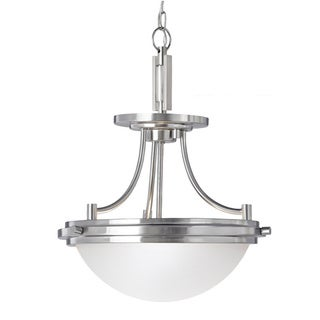 Winnetka 2-light Brushed Nickel Semi-flush Convertible Fixture