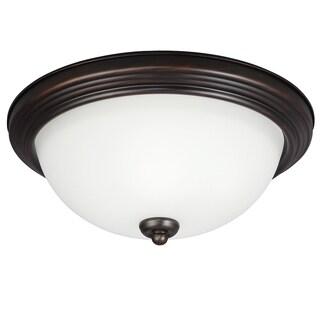 Small LED Burnt Sienna Flush Mount