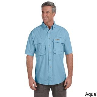 Hook & Tackle Men's 'Gulf Stream' Short Sleeve Fishing Shirt