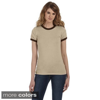 Bella Women's Heather Jersey Ringer T-shirt (More options available)