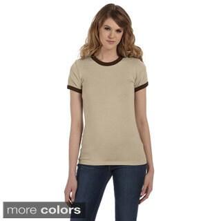 Bella Women's Heather Jersey Ringer T-shirt
