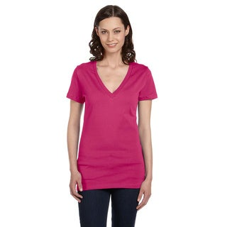 Link to Bella Women's Jersey Deep V-neck T-shirt Similar Items in Tops