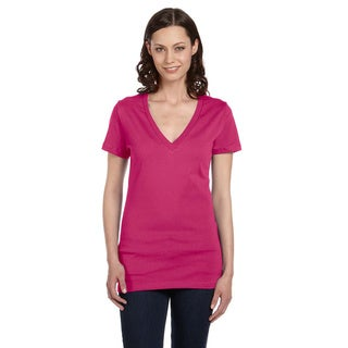 Bella Women's Jersey Deep V-neck T-shirt
