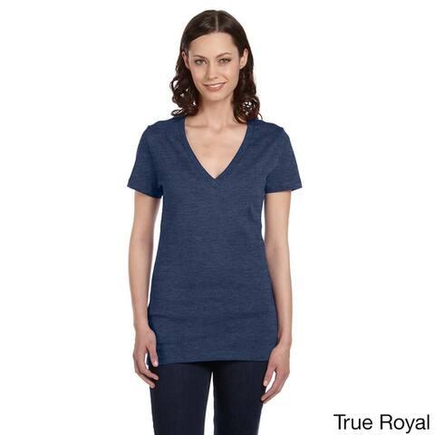 Bella Women's Jersey Deep V-neck T-shirt