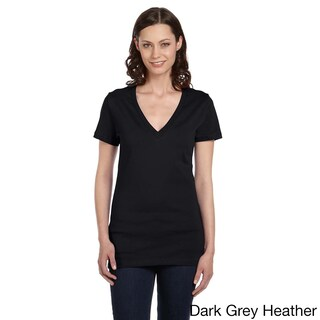 Bella Women's Jersey Deep V-neck T-shirt (More options available)