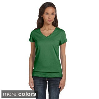 Bella Women's Cotton V-neck T-shirt (More options available)