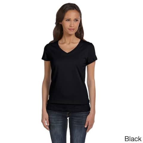 Bella Women's Cotton V-neck T-shirt