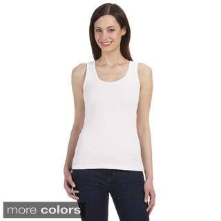 Bella Women's Organic Cotton Ribbed Tank Top|https://ak1.ostkcdn.com/images/products/8942048/Bella-Womens-Organic-Cotton-Ribbed-Tank-Top-P16155194.jpg?impolicy=medium