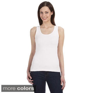 Bella Women's Organic Cotton Ribbed Tank Top (3 options available)