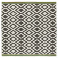 Flatweave TriBeCa Grey Geo Wool Rug - 8' x 8'