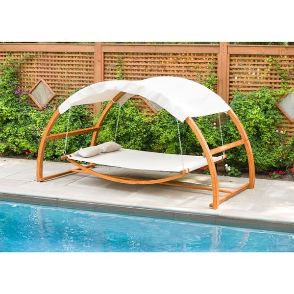 Shop Canopy Swing Outdoor Bed Regular Overstock 8942087