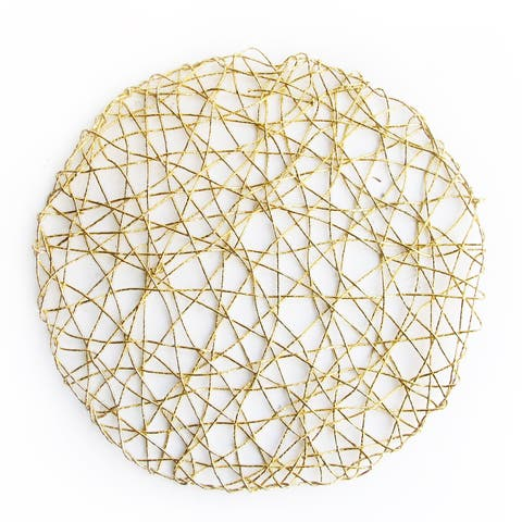 American Atelier Gold 14.5-inch Round Placemat