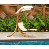 Shop Corliving Wood Canyon Cinnamon Brown Stained Patio Swing