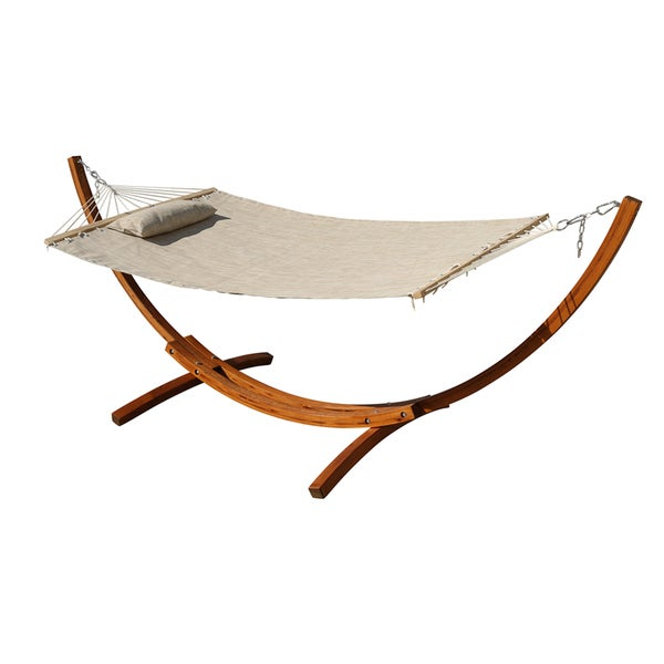 Larch Hardwood Hammock Stand and Hammock Set
