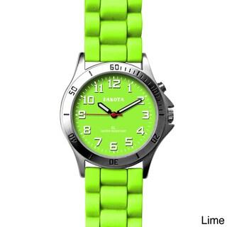 Dakota Unisex Color 'Sport E.L.' Watch (Option: Lime)
