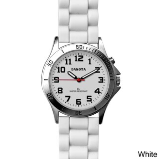 Dakota Unisex Color 'Sport E.L.' Watch (Option: White)