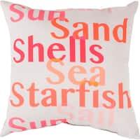 Sea Shells Fish Outdoor Safe Decorative Throw Pillow