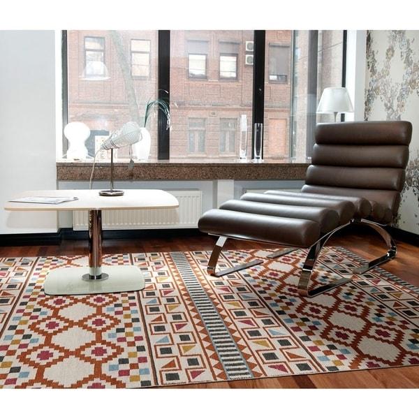 Flatweave TriBeCa Paprikal Wool Rug - 8' Square