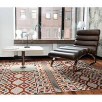 Flatweave TriBeCa Paprikal Wool Rug - 8' x 8'