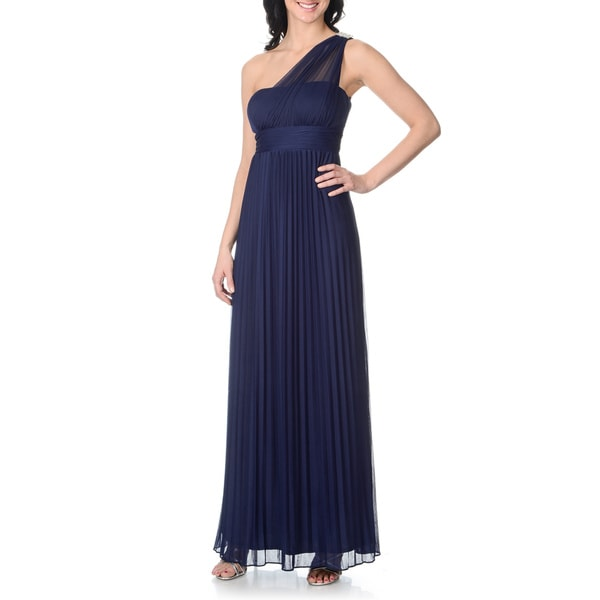 Discount Free Shipping Cwds078 One Shoulder With: Onyx Night Blue Sage Women's One Shoulder Dress