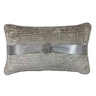 Jackson Morgan Silver Sterling Feather Fill Throw Pillow