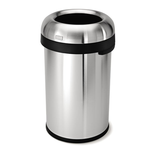 simplehuman 80-liter Stainless Steel Bullet Open Trash Can