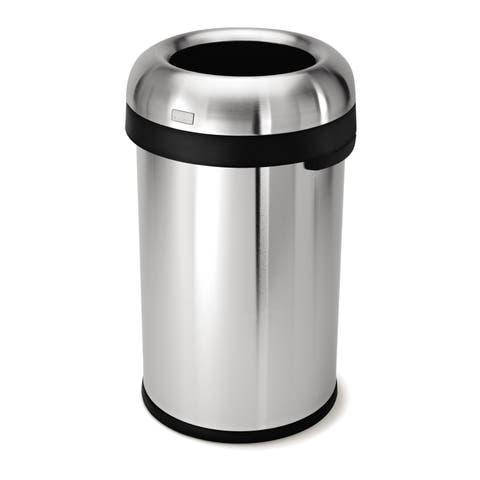 simplehuman 80-liter Stainless Steel Bullet Open Trash Can