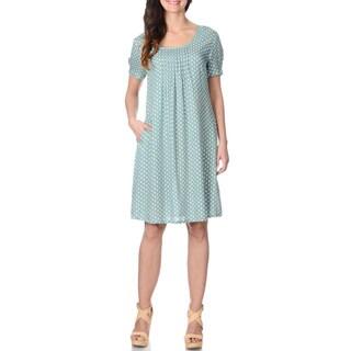 La Cera Women's Polka Dot Print Dress
