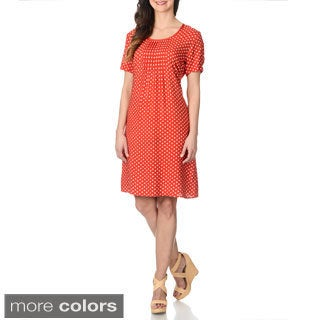 La Cera Women's Polka Dot Print Dress (More options available)
