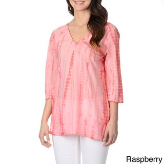 f43f68501df2e7 Buy Pink, V-Neck 3/4 Sleeve Shirts Online at Overstock.com | Our Best Tops  Deals