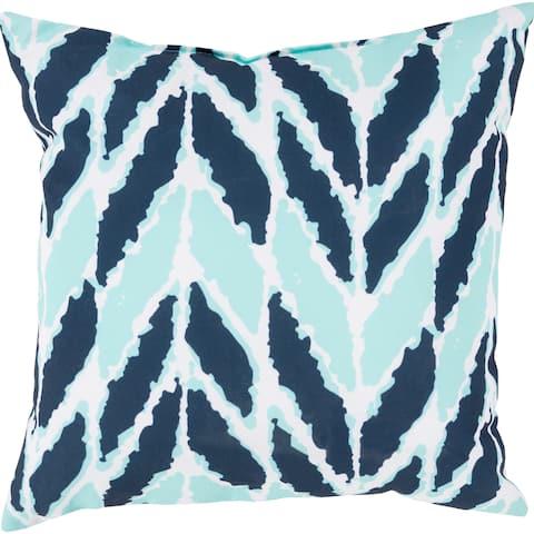 Seaweed Chevron Outdoor Safe Decorative Throw Pillow