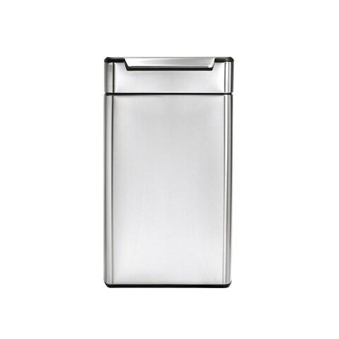 simplehuman Rectangular Touch-Bar Trash Can (40 Liters)