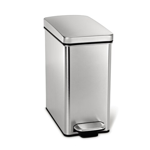 simplehuman Profile Stainless Steel 10-liter Step Can